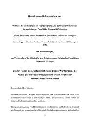 Stellungnahme zur Zahl der Pflichtfachklausuren vom 3. 6. 2002 ...