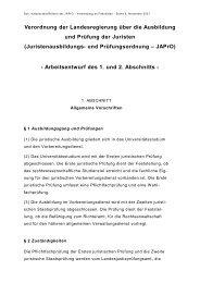 Überarbeiteter JAPrO-Entwurf, Stand 8. 11. 2001