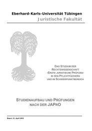 Informationsbroschüre - Juristische Fakultät der Eberhard-Karls ...