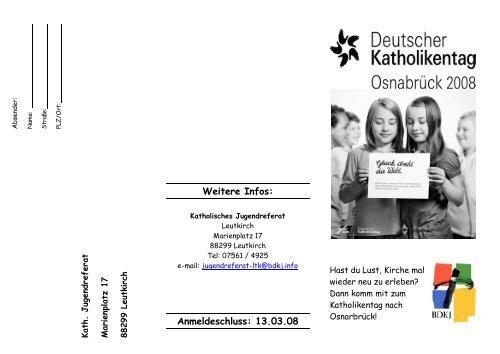Weitere Infos - Katholisches Jugendreferat | BDKJ Dekanatsstelle ...
