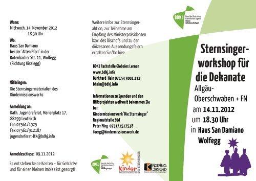 Sternsinger- workshop für die Dekanate