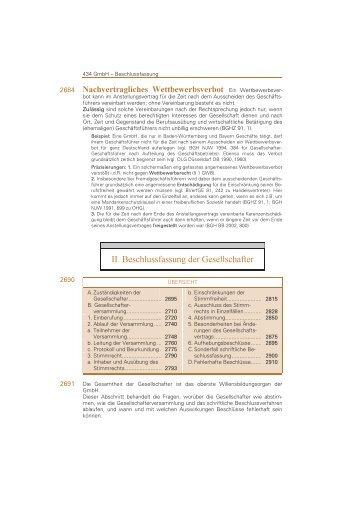 II. Beschlussfassung der Gesellschafter - Jurawelt
