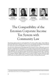The Compatibility of the Estonian Corporate Income Tax System with ...