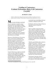 Lending to Contractors: Evaluate Performance Risk ... - JurisPro.com