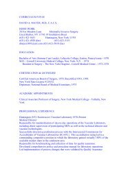 CURRICULUM VITAE DAVID A. MAYER, MD, FACS ... - JurisPro.com