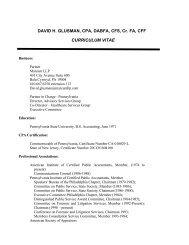 DAVID H. GLUSMAN, CPA, DABFA, CFS, Cr. FA ... - JurisPro.com