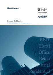 Japanese Real Estate - A legal guide for foreign investors 2009