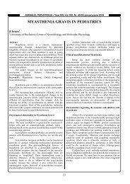 MYASTHENIA GRAVIS IN PEDIATRICS - jurnalulpediatrului.ro