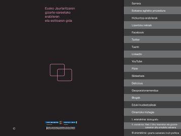 Eusko Jaurlaritzaren gizarte-sareetako erabileren eta estiloaren gida