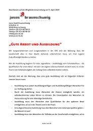 Gute Arbeit und Ausbildung - Jusos Stadt Braunschweig