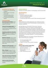 DRAGON MEDICAL 11 PRODUKTBLATT - Dfc-Systems