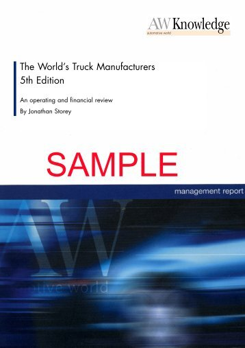 The World's Truck Manufacturers 5th Edition - Just-Auto.com