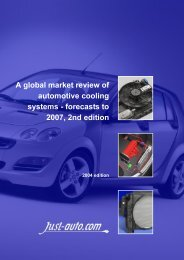 A global market review of automotive cooling systems - Just-Auto.com