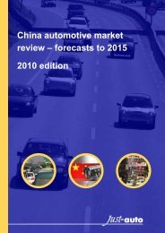 Download a sample of this report - Just-Auto.com