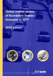 Global market review of foundation brakes ... - Just-Auto.com