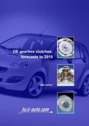 OE gearbox clutches - Just-Auto.com