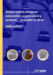 Global market review of automotive engine cooling ... - Just-Auto.com