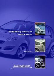 Vehicle body styles and interior trends - Just-Auto.com