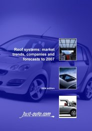 Roof systems: market trends, companies and ... - Just-Auto.com
