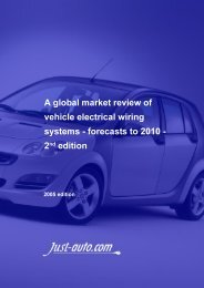 A global market review of vehicle electrical wiring ... - Just-Auto.com