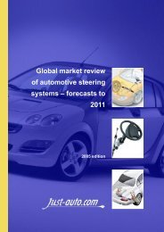 Global market review of automotive steering ... - Just-Auto.com