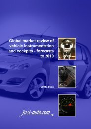 Global market review of vehicle instrumentation and ... - Just-Auto.com