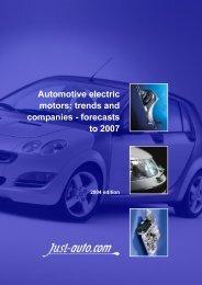 Automotive electric motors - Just-Auto.com