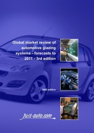 Global Market Review Of Automotive glazing Systems - Just-Auto.com