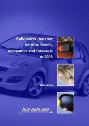 Automotive rearview mirrors - Just-Auto.com