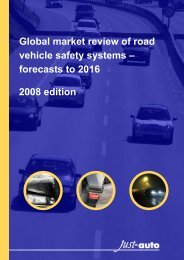 Global market review of road vehicle safety systems ... - Just-Auto.com
