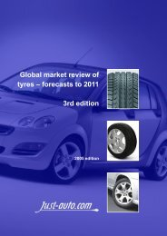 Global market review of tyres - Just-Auto.com