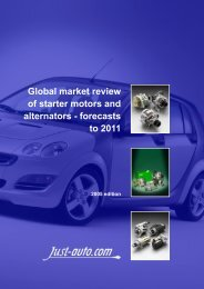 Global market review of starter motors and ... - Just-Auto.com