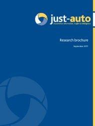 Research brochure - Just-Auto.com