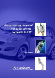 Global market review of exhaust systems - Just-Auto.com