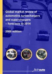 Global Market Review Of Automotive Turbochargers ... - Just-Auto.com