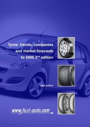 Tyres: trends, companies and market forecasts to ... - Just-Auto.com
