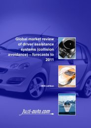 Global market review of driver assistance systems ... - Just-Auto.com