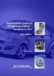 Global Market Review Of OE Gearbox Clutches - Just-Auto.com