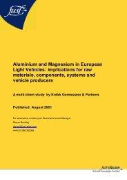 Aluminium and Magnesium in European Light ... - Just-Auto.com