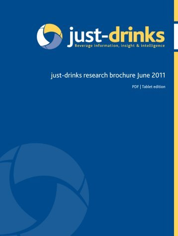 just-drinks research brochure June 2011
