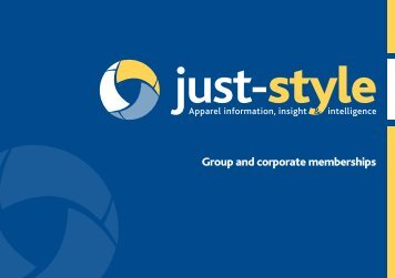Group and corporate memberships - Just-Style.com