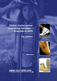 Global market review of branded footwear ... - Just-Style.com