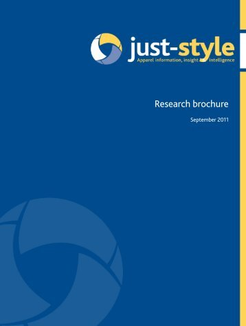 Apparel and textile market research brochure ... - Just-Style.com