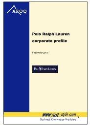 Polo Ralph Lauren corporate profile - Just-Style.com