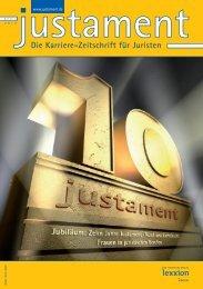 Die Karriere-Zeitschrift für Juristen - Justament