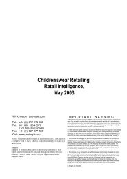 Childrenswear Retailing, Retail Intelligence, May ... - Just-Style.com