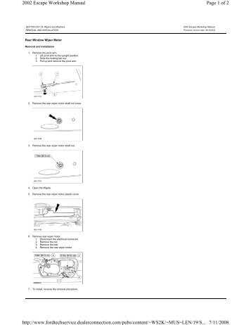 Page 1 of 2 2002 Escape Workshop Manual 7/11/2008 http://www ...