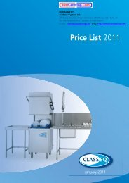 Price List 2011 - Just Catering