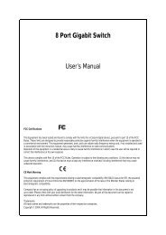 8 Port Gigabit Switch User's Manual - justec.com.tw