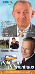 Politik im Palmenhaus - Csu-Ortsverband Vaterstetten-Parsdorf